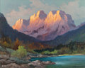 Fine Art - Painting, American:Contemporary   (1950 to present)  , ALEXANDER DZIGURSKI (Russian/American, 1911-1995). GrandTetons. Oil on canvas. 24 x 30 inches (61.0 x 76.2 cm). Signed...