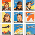 "Non-Sport Cards:Lots, 1936 R65 Goudey ""History of Aviation"" Near Set (9/10). ..."