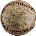 Baseball Collectibles:Balls, 1931 Chicago Cubs Team Signed Baseball. ...