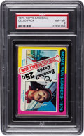 Baseball Cards:Unopened Packs/Display Boxes, 1975 Topps Cello Pack With Home Run Leaders - 1974 Top Card PSANM-MT 8....