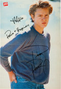Movie/TV Memorabilia:Autographs and Signed Items, River Phoenix Signed Large Color Teen Magazine Pinup....