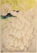 Prints, LOUIS ICART (1888-1950). Dreaming Eyes, No. 280. Hand-colored etching. 25-3/8 x 17-3/4 inches (64.5 x 45.1 cm) (sight). ...