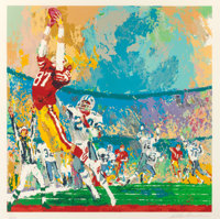 LEROY NEIMAN (American, 1921-2012) The Catch Screenprint in colors 31-1/4 x 30 inches (79.4 x 76
