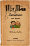 Books:Children's Books, [German Children's Book]. Wilhelm Busch. Mar und Moritz eineBubengeschichte in Sieben Streichen. Fully illustrated ...