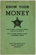 Books:Americana & American History, [Americana]. Know Your Money. Issued by the United StatesTreasury in conjunction with The Secret Service Crime Prev...