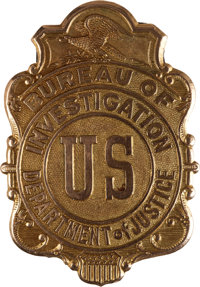 Law Enforcement: Early Department of Justice Badge