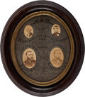 Political:3D & Other Display (pre-1896), Grant & Colfax: Jugate Photographic Display Piece....