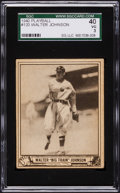 Baseball Cards:Singles (1940-1949), 1940 Play Ball Walter Johnson #120 SGC 40 VG 3....