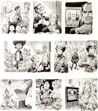 "Jack Davis MAD #183 ""Take It With a Grain of Salt When..."" Complete 2-Page Story Original Art (EC, 1976).... (..."