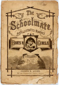 Books:Americana & American History, [Americana]. The Schoolmate. An Illustrated Monthly for Boys andGirls. Boston: Joseph H. Allen, 1872. Octavo. Publi...