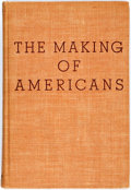 Books:Literature 1900-up, Gertrude Stein. The Making of Americans. New York: Harcourt,Brace, [1934]. First edition, first printing. Publisher...
