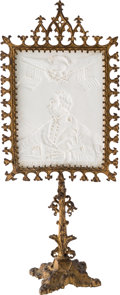 Political:3D & Other Display (pre-1896), Zachary Taylor: Rare and Desirable Lithophane and Stand....