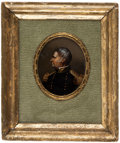 Political:3D & Other Display (pre-1896), Zachary Taylor: French-Made Portrait Under Glass....
