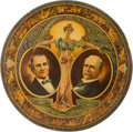 Political:3D & Other Display (1896-present), Bryan & Stevenson: Jugate Lithographed Tin Beer Tray....