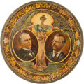 Political:3D & Other Display (1896-present), McKinley & Roosevelt: Lithographed Tin Beer Tray....