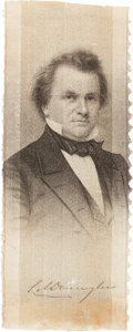 Political:Ribbons & Badges, Stephen A. Douglas: Brady Silk Ribbon....