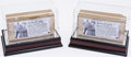 Football Collectibles:Others, Notre Dame Stadium Bricks Lot of 2 - Commemorating Knute Rockne (Steiner)....