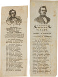 Political:Small Paper (pre-1896), Winfield Scott and Stephen Douglas: Pictorial Ballots.... (Total: 2 Items)
