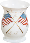 Political:3D & Other Display (pre-1896), Zachary Taylor: Bristol or Belleek Glass Campaign Mug....