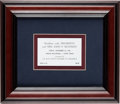 Political:Small Paper (1896-present), John F. Kennedy: Fort Worth Breakfast Ticket....