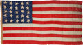 Political:Textile Display (pre-1896), U.S. Flags: 25-Star Flag....