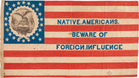 [Henry Clay]: Fantastic 1844 Native American Campaign Flag