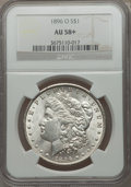 Morgan Dollars: , 1896-O $1 AU58+ NGC. NGC Census: (1467/1275). PCGS Population (1067/1298). Mintage: 4,900,000. Numismedia Wsl. Price for pr...