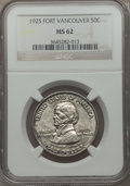 Commemorative Silver: , 1925 50C Vancouver MS62 NGC. NGC Census: (113/1979). PCGSPopulation (199/2732). Mintage: 14,994. Numismedia Wsl. Pricefor...