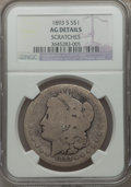 Morgan Dollars: , 1893-S $1 -- Scratches -- NGC Details. AG. NGC Census: (0/2496).PCGS Population (99/5051). Mintage: 100,000. Numismedia Ws...