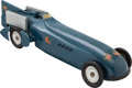 Transportation:Automobilia, Vintage Kingsbury Wind-Up Model Toy Of Malcolm Campbell's LandSpeed Record Setting Blue Bird Racer ...