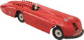 Transportation:Automobilia, Vintage Kingsbury Pressed Steel Wind-Up Model Toy Of 1927 Sunbeam1000 ...