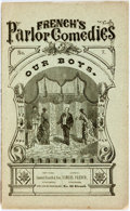 Books:Americana & American History, [Americana]. H.J. Byron. Our Boys. No. 7 in French's ParlorComedies. New York Samuel French, [1875]. Publis...