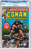 Bronze Age (1970-1979):Miscellaneous, Conan the Barbarian Annual #1 (Marvel, 1973) CGC VF/NM 9.0Off-white to white pages....