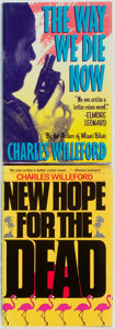 Books:Mystery & Detective Fiction, Charles Willeford. New Hope for the Dead [and:] The Way We Die Now. Various publishers, [1985, 1988]. First ... (Total: 2 Items)