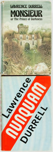 Books:Literature 1900-up, Lawrence Durrell. Nunquam [and:] Monsieur or The Price of Darkness. London: Faber and Faber, [1970, 1974]. F... (Total: 2 Items)