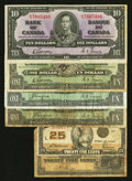 Canadian Currency: , BC-24b, Shinplasters, and King George VI Issues.. ... (Total: 6notes)
