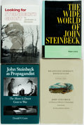 Books:Biography & Memoir, [John Steinbeck]. Group of Four Books about John Steinbeck.Includes a bookseller's catalog and three literary and cultural ...(Total: 4 Items)
