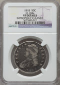 Bust Half Dollars, 1818 50C -- Improperly Cleaned -- NGC Details. VF. O-104a. NGCCensus: (18/593). PCGS Population (25/762). Mintage: 1,960,3...