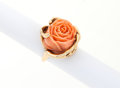 Estate Jewelry:Rings, Coral, Gold Ring. ...