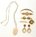 Estate Jewelry:Lots, Opal, Seed Pearl, Ruby, Gold Jewelry . ... (Total: 7 Items)