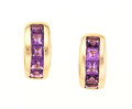 Estate Jewelry:Earrings, Amethyst, Gold Earrings. ...