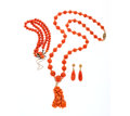 Estate Jewelry:Lots, Coral, Gold Jewelry. ... (Total: 3 Items)