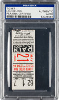 Autographs:Others, 1938 Lou Gehrig Signed Ticket Stub....