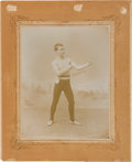 """Boxing Cards:General, 1890's Joseph Wood Studios """"Peddler Palmer"""" Imperial Cabinet Photo. ..."""