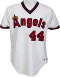 Baseball Collectibles:Uniforms, 1984 Reggie Jackson Game Worn California Angels Jersey - From 500 Home Run Season, MEARS A9.5. ...