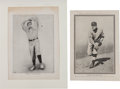 Baseball Collectibles:Others, 1901 - 1911 Christy Mathewson Premiums Pair (2). ...