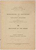 Books:Social Sciences, Booker T. Washington. Education of the Negro. No. 18 inNicholas Murray Butler's Monographs on Education in theUn...
