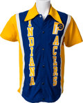 Basketball Collectibles:Uniforms, 1978-80 Alex English Game Worn Indiana Pacers Warm-Up Jersey withPants....