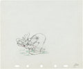 Animation Art:Production Drawing, Tugboat Mickey Goofy Production Drawing Animation Art (WaltDisney, 1940)....