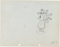 Animation Art:Production Drawing, Mickey's Mellerdrammer Production Drawing Animation ArtGroup (Walt Disney, 1933).... (Total: 2 Original Art)